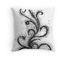 Abstract Flame Sketch Throw Pillow