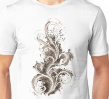 Sepia Abstract Flame Unisex T-Shirt