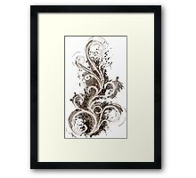 Sepia Abstract Flame Framed Print