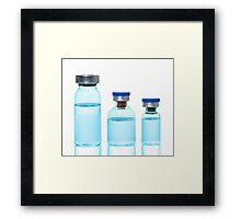 ampules, vials Framed Print
