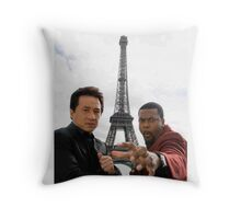 Jackie Chan and Chris Tucker Throw Pillow