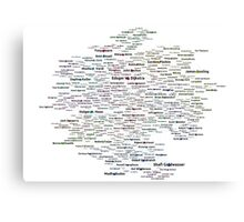 Google Search based Knowledge Graph of Programmers Canvas Print