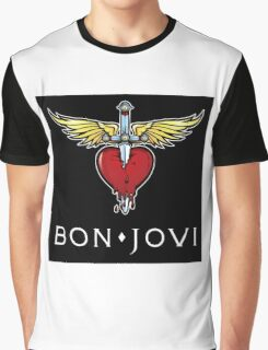 BON JOVI SWORD HEART LOGO BEST Graphic T-Shirt
