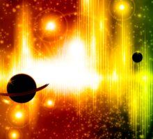 Retro space background Sticker