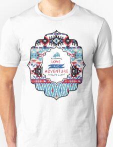 Native american seamless tribal pattern with geometric elements Unisex T-Shirt