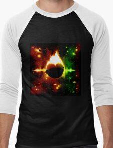Retro space background Men's Baseball ¾ T-Shirt