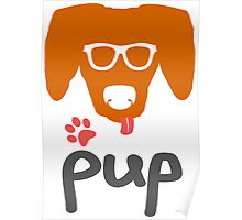 Geeky Pup with Floppy Ears Poster