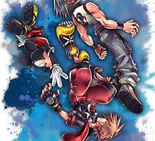 Riku Sora Mickey - Kingdom Hearts by KyouuSunshiine