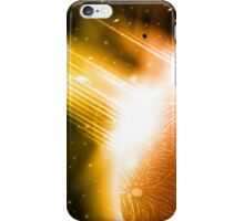Retro space background iPhone Case/Skin