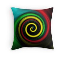 Swirling colours. Throw Pillow