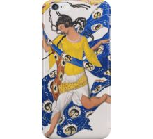 Leon Bakst - The Butterfly (Costume Design For Anna Pavlova)1913. Dancer painting: dance, ballet, dancing woman, ballerina, costume, femine, women, dancer,  music, dancers, theatre iPhone Case/Skin