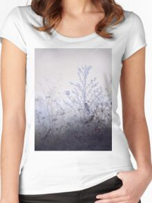 Leon Bonvin - Birds Resting On Bushes. Bird painting: cute fowl, fly, wings, lucky, pets, wild life, animal, birds, little small, bird, nature Women's Fitted Scoop T-Shirt