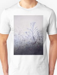 Leon Bonvin - Birds Resting On Bushes. Bird painting: cute fowl, fly, wings, lucky, pets, wild life, animal, birds, little small, bird, nature Unisex T-Shirt