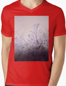 Leon Bonvin - Birds Resting On Bushes. Bird painting: cute fowl, fly, wings, lucky, pets, wild life, animal, birds, little small, bird, nature Mens V-Neck T-Shirt