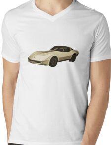 82 Corvette Generation C3 Digi Illustration Mens V-Neck T-Shirt