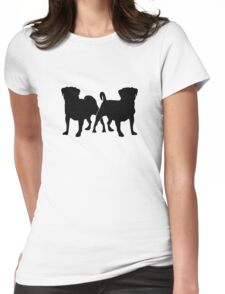 Sam & Oliver 2 Dogs Tee Shirt Womens Fitted T-Shirt