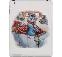Cat Chauffeur with Kittens in Tow by Louis Wain iPad Case/Skin