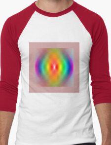 Rainbow spiral Men's Baseball ¾ T-Shirt