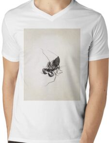Louis Agassiz Fuertes - Whip Scorpion. Insects painting: Scorpion, fly, bugs, lucky, monster, wild life, animal, butterfly, little small, insects, nature Mens V-Neck T-Shirt