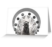 Trippy Smiling Llama Greeting Card