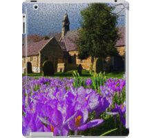 Flowers with church iPad Case/Skin