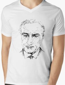 Robert De Niro Mens V-Neck T-Shirt