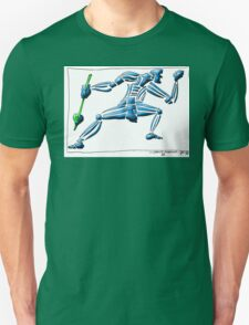 Dance Warrior III  FIST and SPEAR in Blue T-Shirt