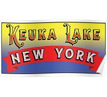 KEUKA LAKE NEW YORK FINGER LAKES NY Poster