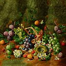 HENRY JOHN LIVENS () 'A Charming Fruit Piece by Adam Asar