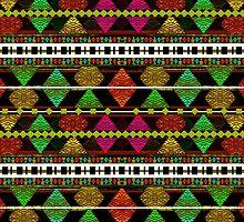 Aztec Style Pattern  by DFLC Prints