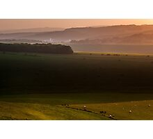 View from Jugg's Road on the South Downs Photographic Print