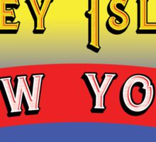 CONEY ISLAND NEW YORK AMUSEMENT PARKS NY Sticker