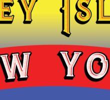CONEY ISLAND NEW YORK AMUSEMENT PARKS NY Sticker