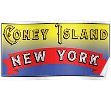 CONEY ISLAND NEW YORK AMUSEMENT PARKS NY Poster