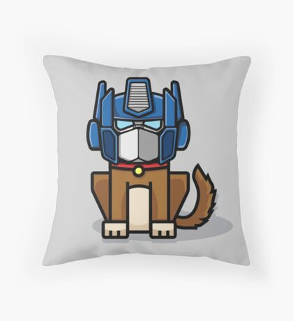 Dogimus Prime Throw Pillow