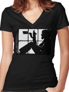 Bert the Killer Women's Fitted V-Neck T-Shirt