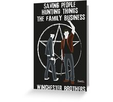 Winchester Brothers Greeting Card