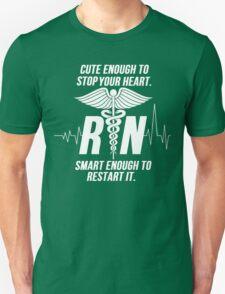 Cute Enough To Stop Your Heart Nurse T-Shirt