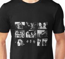Friends Photoshoot Collage Black & White Unisex T-Shirt