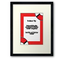 Trainer Tip - Potions & Water Framed Print