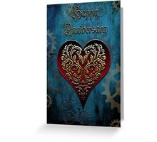 Steampunk Fairytale Anniversary Card ~ Under The Ocean Blue Greeting Card