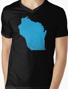 Wisconsin Mens V-Neck T-Shirt