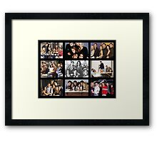 Friends Photoshoot Collage #3 Framed Print