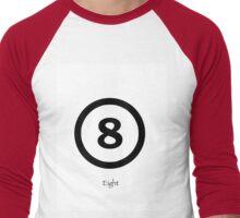 Lucky Number 8  Men's Baseball ¾ T-Shirt