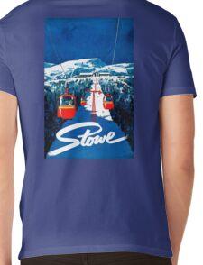 Vintage winter wonderland gondola winter sport snow ski Mens V-Neck T-Shirt
