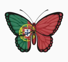 Portuguese Flag Butterfly Kids Clothes