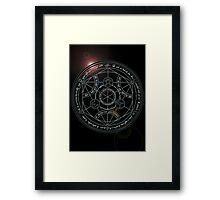 Fullmetal Alchemist transmutation circle Framed Print