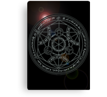 Fullmetal Alchemist transmutation circle Canvas Print