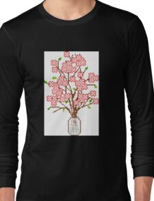 Pixelated Blossom Tree Long Sleeve T-Shirt