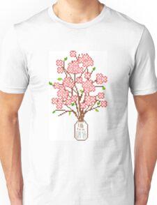 Pixelated Blossom Tree Unisex T-Shirt